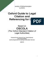 OSCOLA Citation Guide