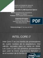 Microprocesadores (INTEL CORE i7 & AMD OPTHERON).