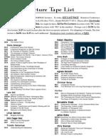 Full Recording List