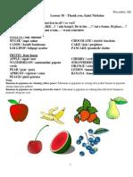 Fruits Lesson 18