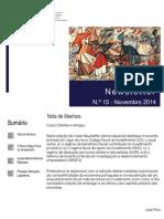 Newsletter CAMMP n.º 15 de Novembro de 2014