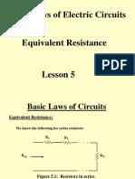 Lesson 5 Resistance, Equivalent