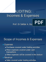 9 Expenses & Other Incomes