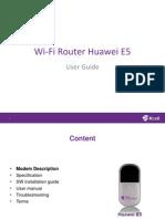 Wi-Fi Router Huawei E5830 Eng