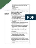 Job Profile Lead Functional Consultant