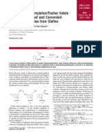 Tandem Hydroformylation/Fischer Indole Synthesis