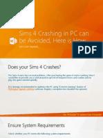 Sims 4 Crashing