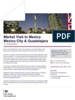Market Visit to Mexico, 16 - 20 March 2015