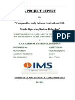 Andriod and Ios Mobile Operating System
