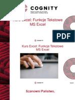 Kurs Excel- Funkcje Tekstowe