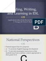 reading writing and learning in esl
