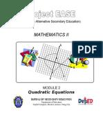 Module 2 - Quadratic Equations