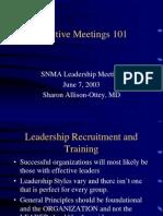 Effective Meetings 101