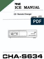 ALpine CHA S634 Service manual