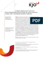 Comparison of Condylar Displacement Between Three Biotypological Facial Groups by Using Mounted Models and a Mandibular Position Indicator - 2014