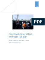 Proceso Constructivo Pozo Tubular