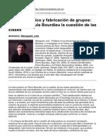 Poder Simbólico y Fabricación de Grupos_ Cómo Reformula Bourdieu La Cuestión de Las Clases