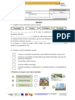 Ficha de Avaliação Diagnóstico 6º Ano