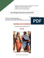 20100106-13 Pdf JJ No 78 et Tweets Jacques-Alain Miller Éléments historiques du passé et du présent de l'ECF