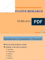 Quantitative Research Nurs:4016.