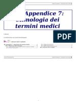Etimologia dei termini medici