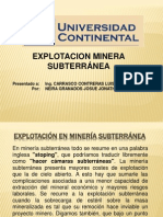 Explotacion Minera Subterranea