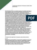 Características de las producciones agrícolas en Venezuela