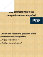 Copy of the Professions and Occupations in Spanish.