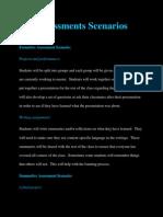 assessments scenarios