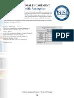Certificate of Scienitific Apologetics 2014-2015 Ses Catalog