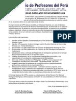 Exitoso Consejo Ordinario de Noviembre 2014
