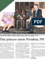 Thai Princess meets President Nathan, PM Lee, 24 Apr 2009, Straits Times