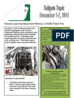 Dec 1-7 Beaumont Refinery CHD#2 Flash Fire