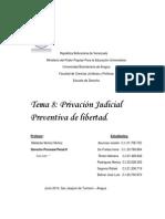 Privación Judicial Preventiva de Libertad