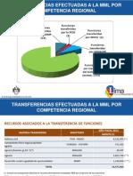 Transferencia de Funciones Regionales a la MML