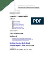 Revista Ciencias de La Salud - Predicción Clínica Del Dolor Lumbar Inespecífico Ocupacional