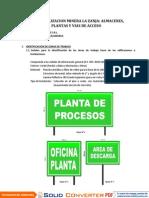 Plan Señalizacion Minera La Zanja