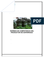 Normas de Competencia Del Productor de Espárragos