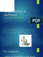 Organization & Behavior Presentation