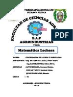 Matematica Lechera