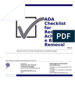 Ada Checklist Word Metric Fillable Form