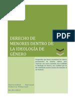 DERECHO DE MENORES,IDEOLOGÍA DE GÉNERO.UNFV,CUARTO AÑO.docx