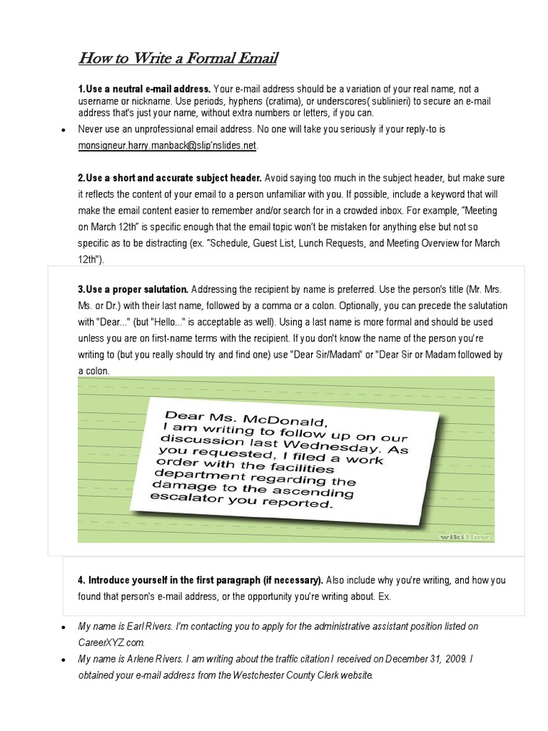 How to write a formal emailcx proofreading email address altavistaventures Image collections