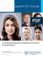 Saskatchewan government 10 year mental health and addictions action plan