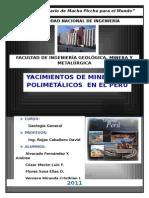 Principales Yacimientos Polimetalicos Del Peru