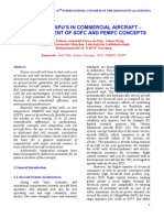 Fuel cell apu's in commercial airplanes