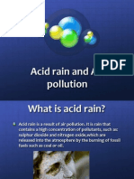 acid rain and air pollution