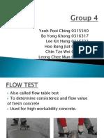 Concrete Flow Test