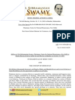 Fundamentals of Hindu Unity