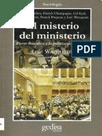 El Misterio Del Ministerio Wacquant